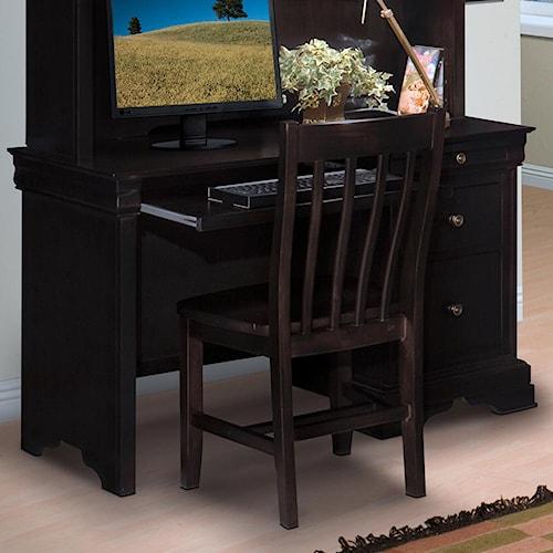 New Classic Belle Rose Youth Single Pedestal Desk