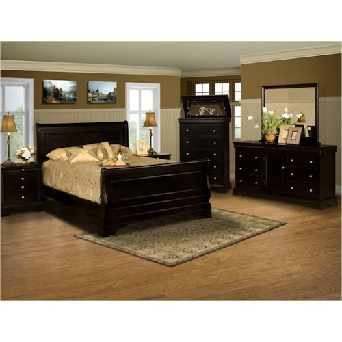 New Classic Belle Rose 4 Piece King Bedroom Group
