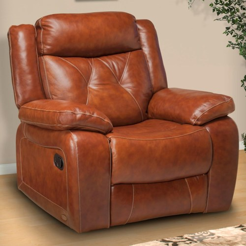 New Classic Benedict Casual Power Recliner with Tufted Back