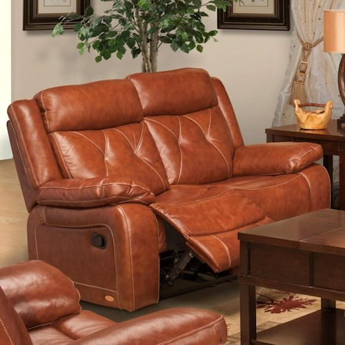 New Classic Benedict Casual Reclining Loveseat with Pillow Arms