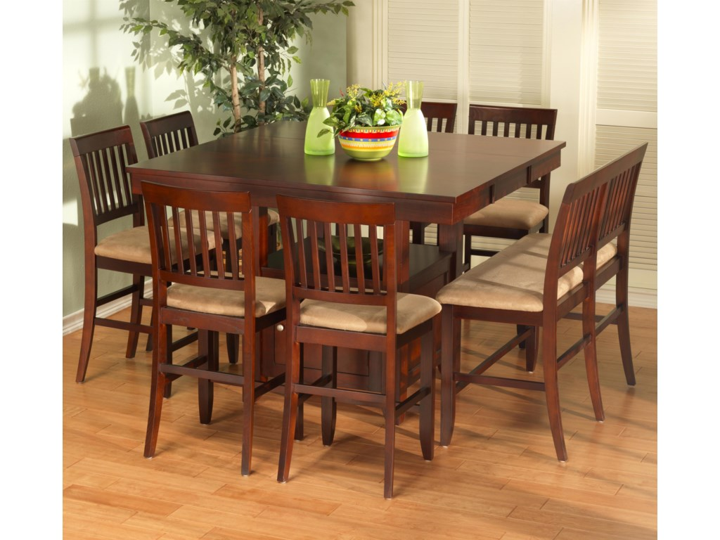 Shown with Counter Chairs and Bench