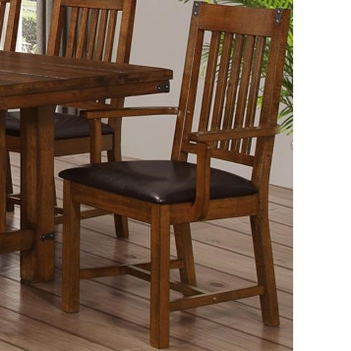 New Classic Buchanan Dining Arm Chair with Slat Back