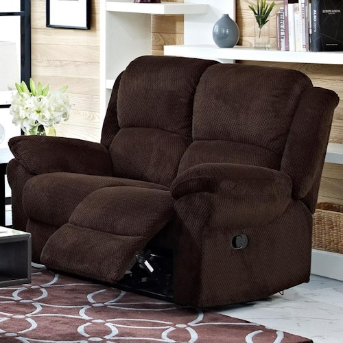 New Classic Cabot Casual Power Reclining Loveseat with Full Chaise Cushions