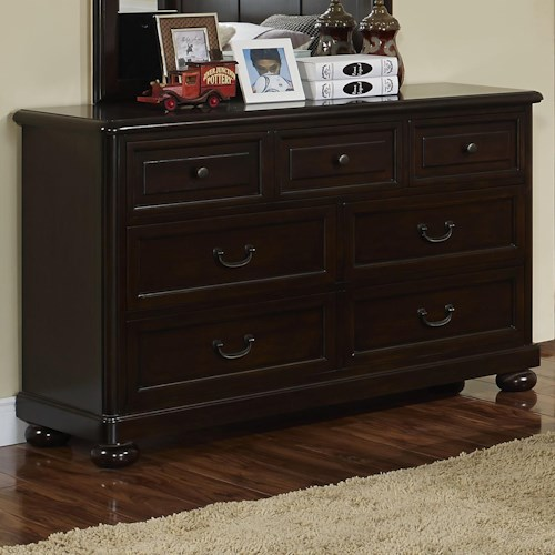 New Classic Canyon Ridge Transitional 7 Drawer Dresser