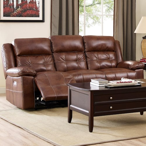 New Classic Clayton Casual Power Reclining Sofa with Power Headrests