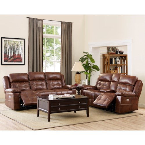 New Classic Clayton Power Reclining Living Room Group