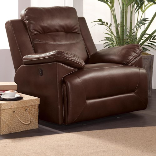New Classic Cortez Casual Glider Recliner with Full Chaise Cushion