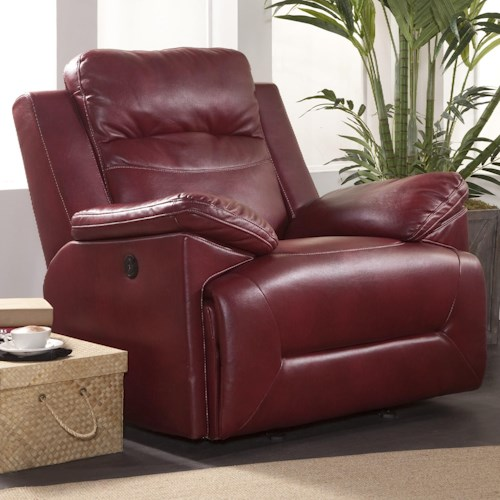 New Classic Cortez Casual Power Glider Recliner with Full Chaise Cushion