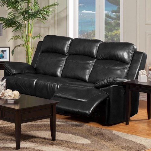 New Classic Cortez Casual Dual Reclining Sofa with Pillow Arms