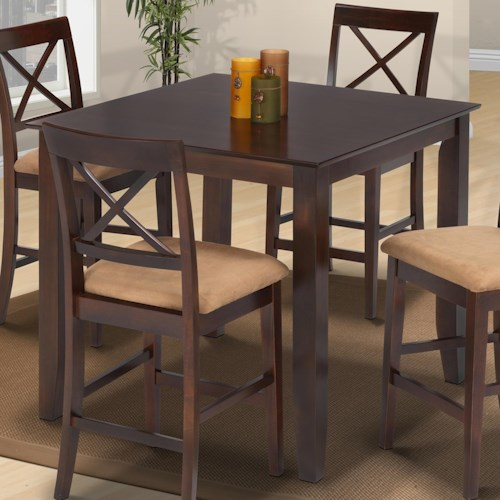 New Classic Crosswinds Square Top Pub Table