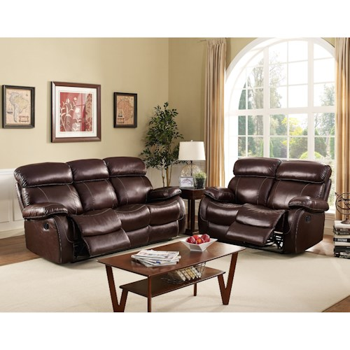 New Classic Dante Reclining Living Room Group