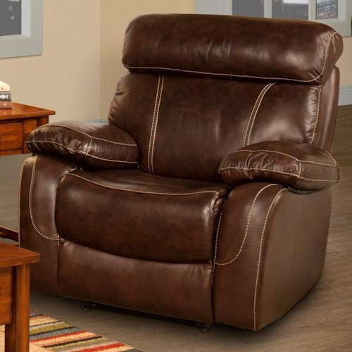 New Classic Dante Casual Power Recliner with Full Chaise Cushion