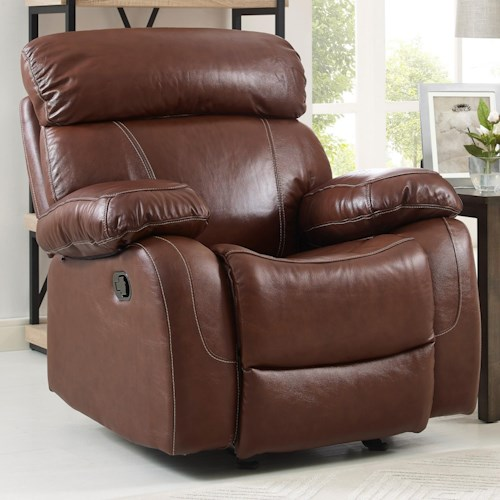 New Classic Dante Casual Power Glider Recliner with Full Chaise Cushion