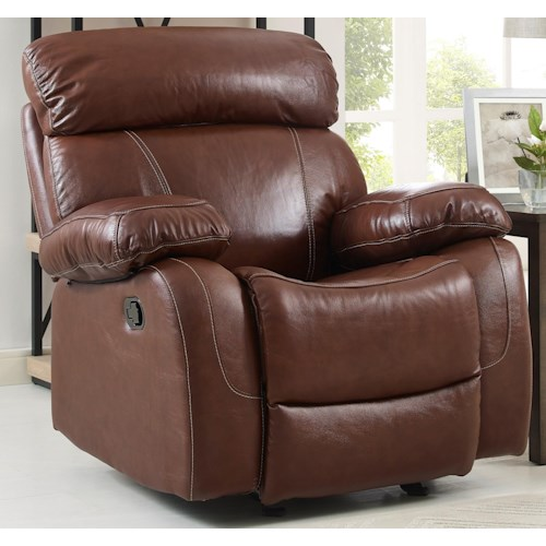 New Classic Dante Casual Recliner with Pillow Arms