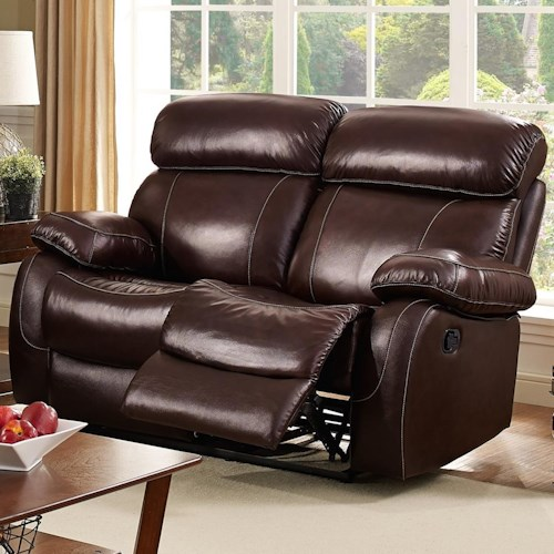 New Classic Dante Casual Reclining Loveseat with Pillow Arms