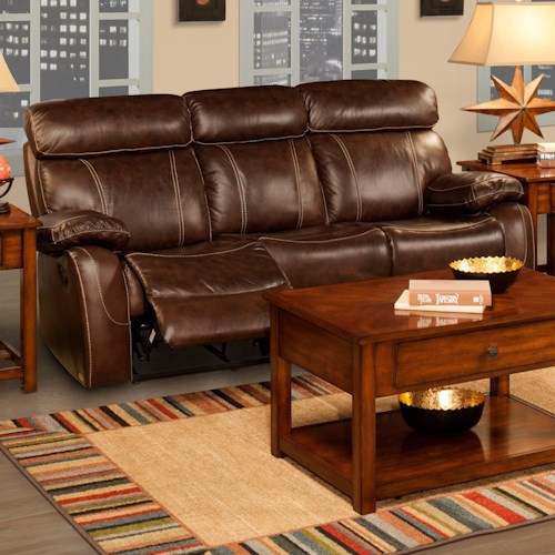 New Classic Dante Casual Power Reclining Sofa with Pillow Arms