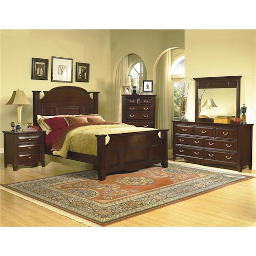 New Classic Drayton Hall 4 Piece Queen Bedroom Group