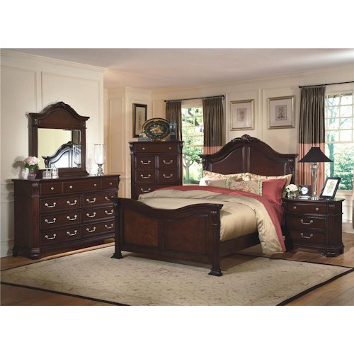 New Classic Emilie 4 Piece King Bedroom Group