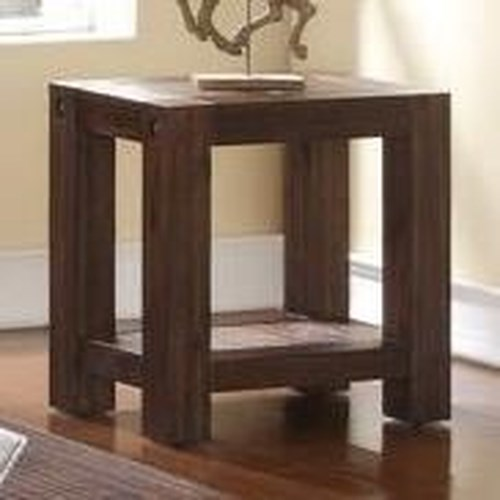 New Classic Fairway Rectangular Chairside Table with Corner Block Feet