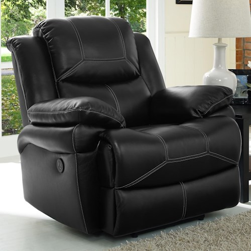 New Classic Flynn Contemporary Glider Recliner with Pillow Arms