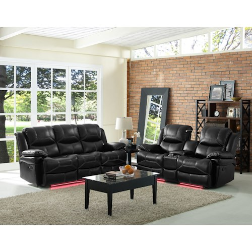 New Classic Flynn Reclining Living Room Group