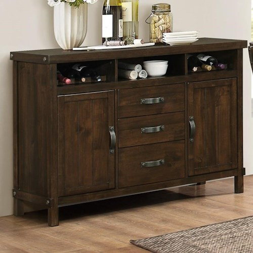 New Classic Frisco Three Drawer Server with Removable Wine Racks