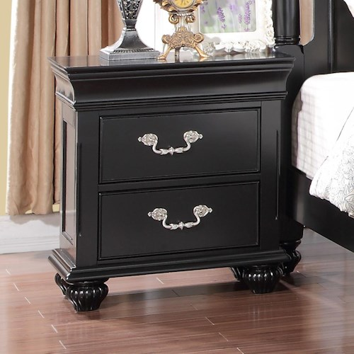 New Classic Jaquelyn 2 Drawer Nightstand