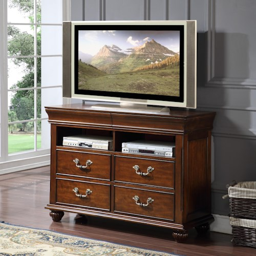 New Classic Jaquelyn Media Console with 4 Drawers