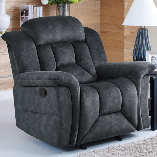 New Classic Jemma Casual Glider Recliner with Full Chaise Cushion