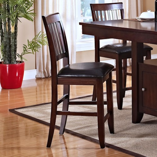 New Classic Kaylee Counter Height Chair with Slat Back