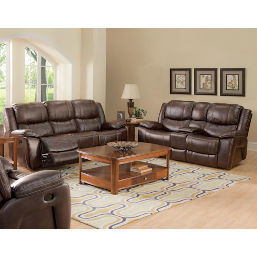 New Classic Kenwood Casual Reclining Living Room Group