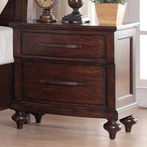 New Classic La Jolla Two Drawer Nightstand with Turned Feet
