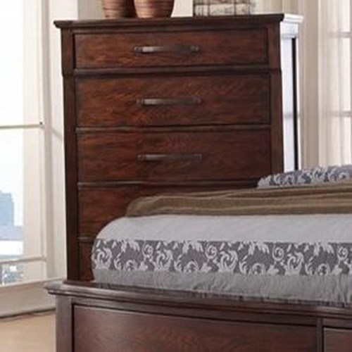New Classic La Jolla Five Drawer Chest with Turned Feet