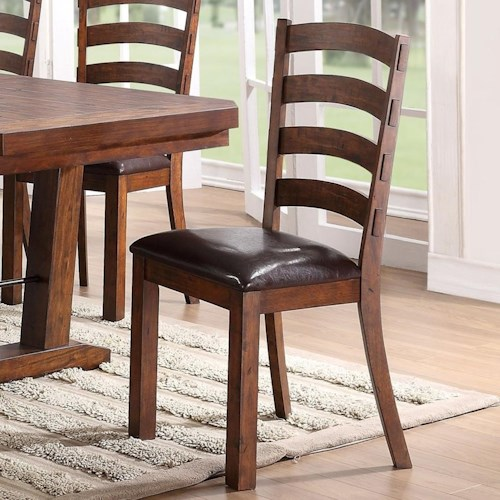 New Classic Lanesboro Dining Chair with Ladder Back and Upholstered Seat