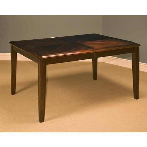 New Classic Latitudes Rounded Corner Dining Table with Leaf