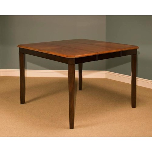 New Classic Latitudes Cut Corner Counter Height Dining Table