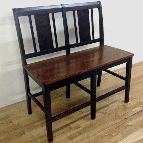 New Classic Latitudes Vertical Back Counter Height Dining Bench