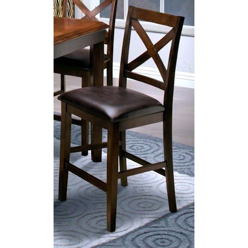 New Classic Latitudes X-Back Counter Height Dining Chair