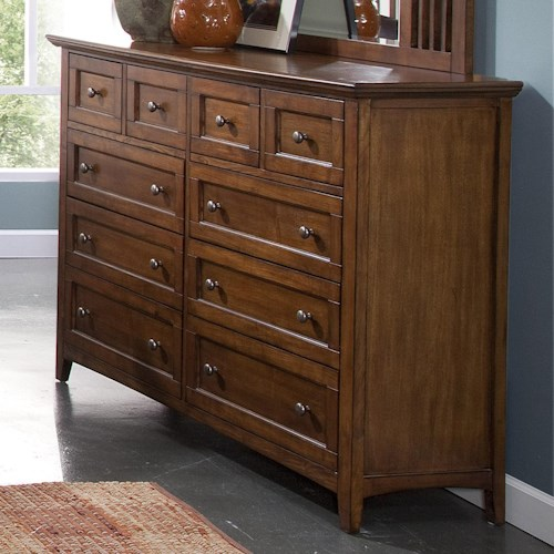 New Classic Logan Ten-Drawer Dresser
