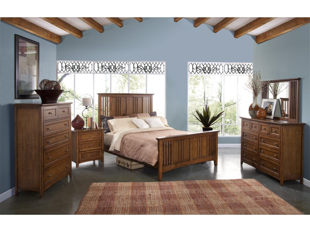 Shown with Dresser Mirror, Panel Bed, Nightstand and Drawer Chest