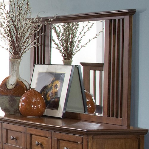 New Classic Logan Dresser Mirror with Slatted Side Panels