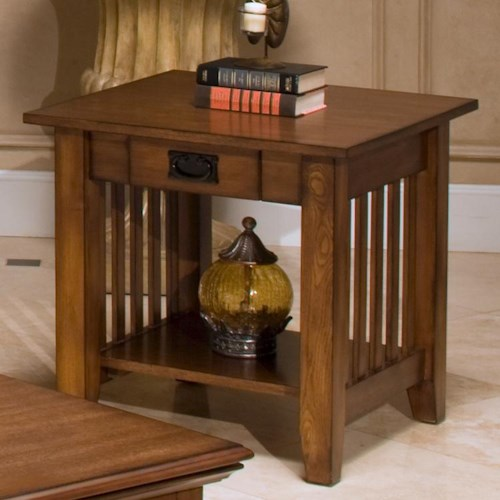 New Classic Logan Drawer End Table