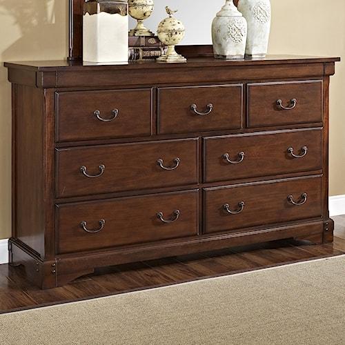 New Classic Madera  Seven Drawer Dresser with Hidden Storage