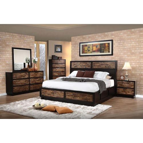 New Classic Makeeda King Bedroom Group