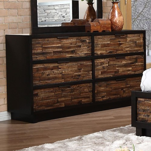 New Classic Makeeda 6 Drawer Dresser with Felt Lined Top Drawers