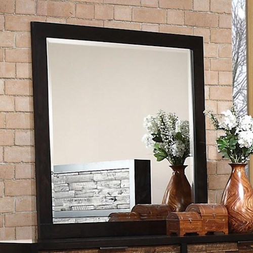 New Classic Makeeda Square Dresser Mirror with Beveled Glass