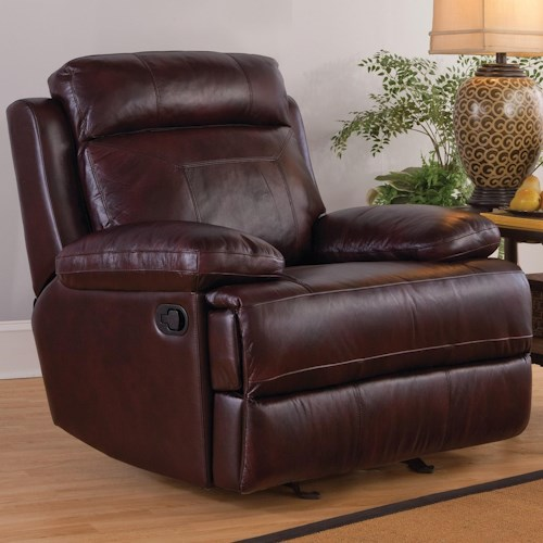 New Classic Mansfield Casual Power Glider Recliner with Pillow Arms