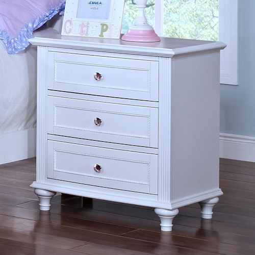 New Classic Megan Casual 3 Drawer Nightstand