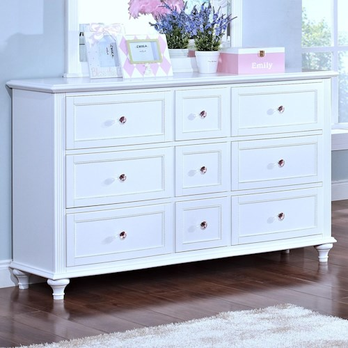 New Classic Megan Casual 9 Drawer Dresser