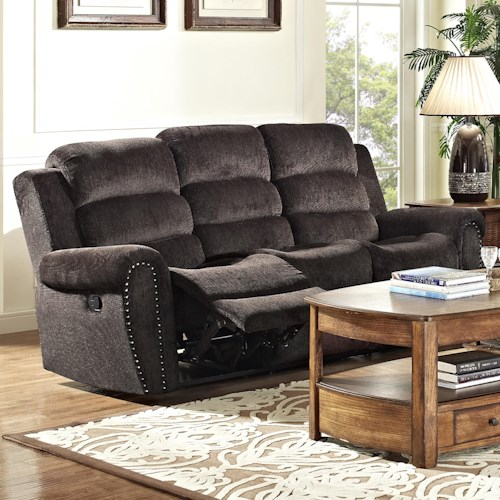 New Classic Merritt Casual Power Reclining Sofa with Full Chaise Cushion